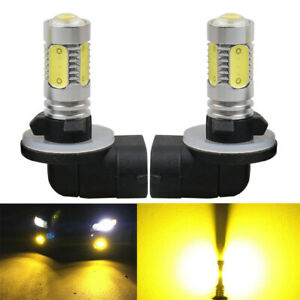 2 Pack LED Yellow Fog Light Bulb For Pontiac Nissan Altima Dodge Ford Chevrolet