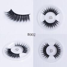 Handmade Fine 3d Soft Silk Protein False Eyelashes Full Strip Thick Long Lashes #011