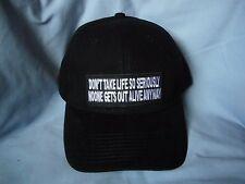 Dont Take Life So Seriously..Black Cap Fun Hat biker motorcycle sports mens shed