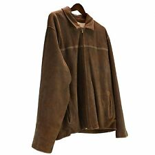 Wilsons Leather Suede XXL Jacket Pelle Studio Dark Brown RN69426 Coat