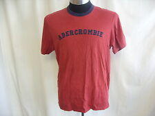 "Mens T-Shirt ABERCROMBIE & FITCH deep red XL chest 44-46"" length 27"" cotton 1696"