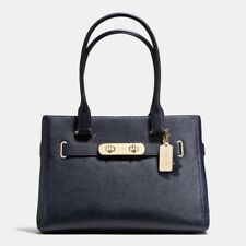 NWT Coach 36488 Swagger Carryall in Pebble Leather, Navy $395.00