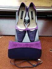 Zapatos y bolso de mano púrpura por Jacque Vert Talla 6