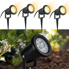 4X Gartenstrahler 4W LED Gartenlampe Außen Strahler Wegbeleuchtung Bodenstrahler