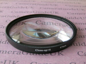 67mm Close Up +8 Macro Lens Filter for Canon, Nikon, Sony, Pentax Camera Lens
