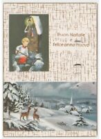 Navidad Niño Monaguillo Nieve Virgen Tarjeta Postal Vintage Teile Paisaje