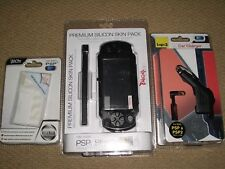 SONY PLAYSTATION PSP SLIM LITE ACCESSORY PACK Case Car Charger Protector - NEW!