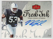 THOMAS HOWARD Raiders 2006 Flair Showcase FRESH INK Autograph #FI-TH SP RC AUTO