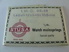 IWC cal. 83 part no. 770 Mainspring NOS, generic 1 pc mainspring