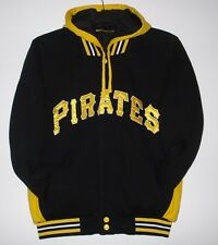 Size L MLB Pittsburg Pirates Reversible Fleece Jacket With  Removable Hoodie L