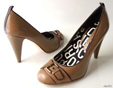 new MARC JACOBS taupe leather buckled toe shoes pumps heels 40 US 10