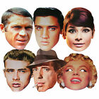 HOLLYWOOD STARS MULTIPACK - 6 FUN PARTY FACE MASKS - LICENSED PRODUCT