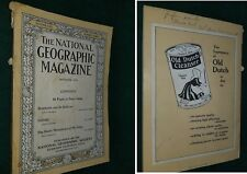 NATIONAL GEOGRAPHIC Magazine- SEPT 1916 - ROUMANIA SALONIKI -GREAT ADS -FreeShip