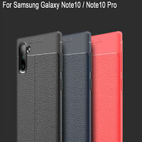 For Samsung Galaxy Note10 / Note10+ Plus PU Leather Soft TPU Shockproof Case