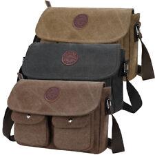 Canvas Hiking Shoulder Messenger Bag for Men Travel Crossbody Bag School Satchel