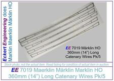 "EE 7019 Used VG Marklin HO Catenary Wires 7019 14"" 360mm long Very Good Pk of 5"