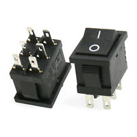 10x 6A/250V 10A/125V 6 Pin DPDT ON/ON 2 Posizione Snap Interruttore a bilanciere