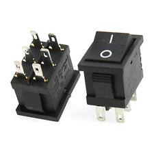 10x 6A/250V 10A/125V 6 Pin DPDT ON/ON 2 Posizione Snap Interruttore a bilanciere