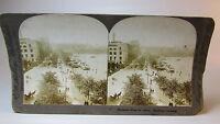 RARE ~1903 E W Kelley Stereoview Card - Panorama alongthe Alater Hamburg Germany