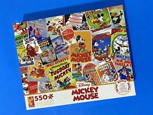 Ceaco Disney Mickey Mouse Jigsaw Puzzle 550 Pc Bonus Poster Vintage Look History