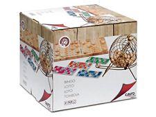 Cayro bingo madera y metal con cartones 30x28x7 150-635