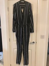 Next Stripe Jumpsuit Size 14 Bnwt
