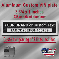 Custom Engraved VIN Plate - Ford, Chevrolet, Dodge, Chrysler... Fits all brand