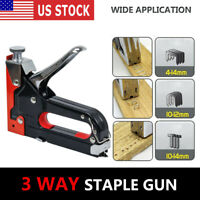 3 in 1 Heavy Duty Staple Gun Stapler Tacker + 600 nails Woodworking Hand Tool