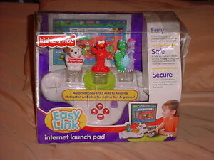 Fisher Price Easy Link Internet Launch Pad For Kids Elmo,Dragon Tales, Dog *New*