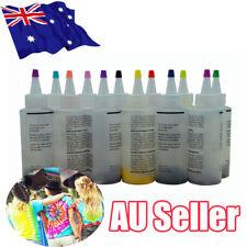 12 Colour Bottle Tie Dye Kit + 40 Rubber Band + 4 Pairs Vinyl Gloves DIY Kit BO