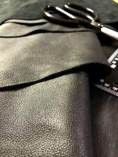 Genuine Black Leather Hide Side Top Grain 2 - 4 oz (18-19 sq.ft)