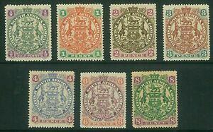 RHODESIA - 1897 Arms to 8d (HM) (ME735c)