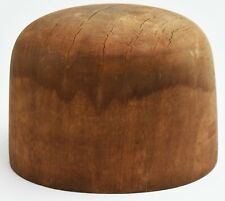 Antique Millinery / Hatters' Supply House Wooden Hat Form DC-26