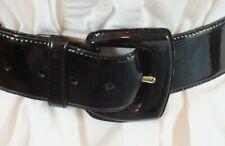 Vintage DONNA KARAN,DKNY Black Patent Leather BELT.Very Stylish Designer Item.