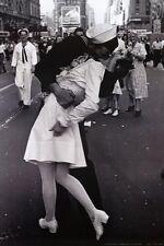 Kissing On VJ Day - Nurse Kissing Sailor, Art Poster Full Size Poster Print,