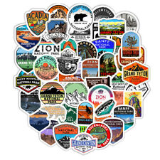 50 Piece National Park Stickers/Decals, Collect, Flasks, Coolers, Laptops, Mugs