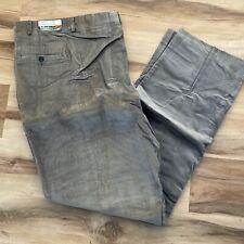 Vintage Saturdays Gentlemen's Britches Gray Corduroy pants USA made Men's 54x35