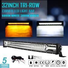"OSRAM Curved 32inch 2520W LED LIGHT BAR TRI-ROW DUAL COLOR Boat UTE SUV 4X4 34"""