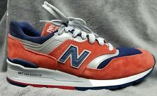 New Balance 997 Made In USA Connoisseur Retro Navy Red Grey Men 8 Running Shoes