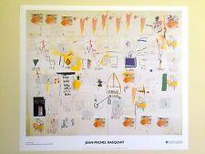 JEAN MICHEL BASQUIAT ORIGINAL ABSTRACT LITHOGRAPH PRINT POSTER ICARUS ESSO 1986