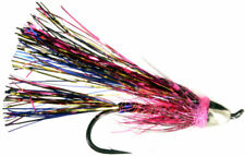 Fly Fishing Flies (Steelhead, Salmon, Trout, Redfish) Chrome Magnet Pink Fly (6)