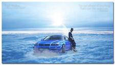 Fast and Furious Paul Walker Movie Art Silk Poster 24x43 inch Wall Decor 002
