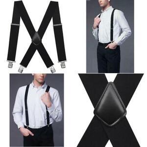 Dickies Mens Perry Suspenders Heavy Duty Adjustable Work Pants Clip Y-Back Strap