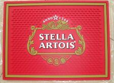 New Red STELLA ARTOIS Red Non-slip rubber beer mat bar mat spill mat 304x228x6mm