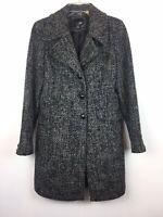 East 5th Sz Small Womens Wool Blend Coat Gray Overcoat Lined Pockets Warm