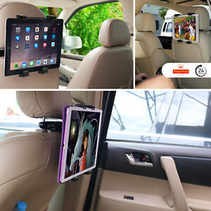 "New Back Seat Headrest Tablet Car Holder For All iPad 7"" To 11"" & Charging Cable"