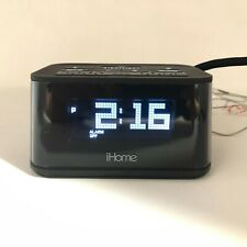 iHome Alarm Clock With Night-Light, 2 USB Charging Ports And Battery Backup
