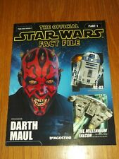 STAR WARS OFFICIAL FACT FILE PART 1 UK MAGAZINE DARTH MAUL R2-D2