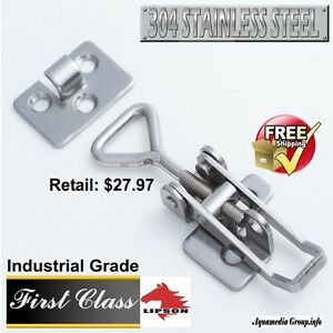 20 pcs- 304 Polished Stainless Steel Toggle Snap Latch / Industrial  Adjustable