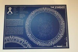 Stargate  schematic blueprint A3 artprint poster
